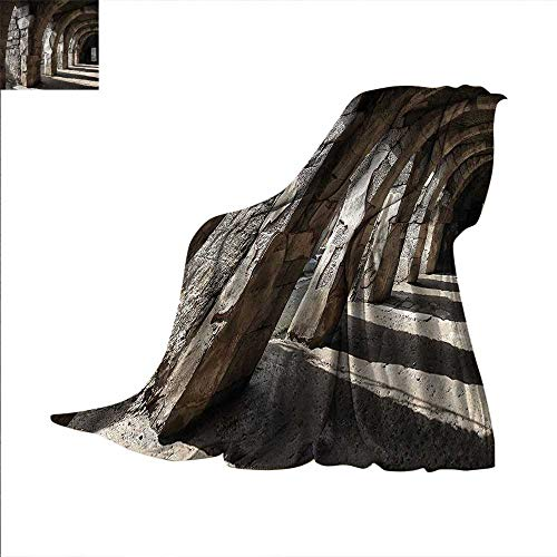 Portico Quilt - Ancient Digital Printing Blanket Dark Shadows Stone Portico Summer Quilt Comforter 80