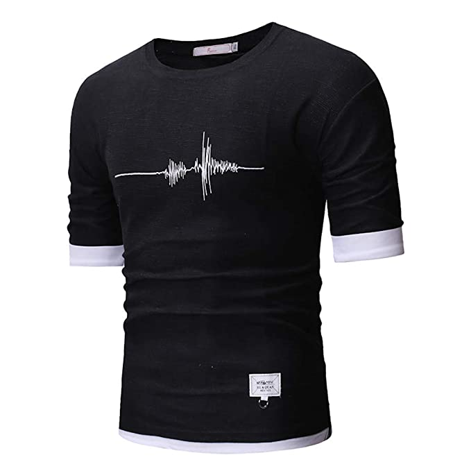 49d0dff5 LOMONER Athletic T-Shirt Sportswear Handsome Print Short Sleeve Casual T- Shirt Tops Blouse