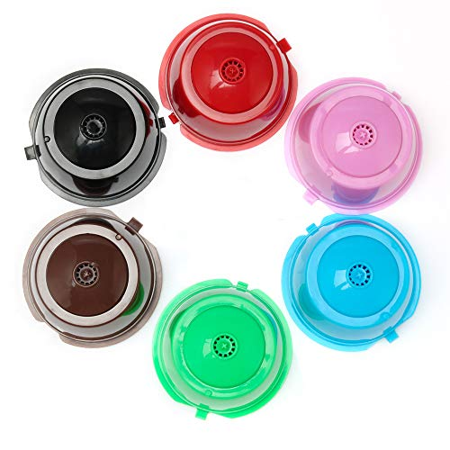 BRBHOM Colorful Dolce Gusto Refillable Capsules Pods Rusable Coffee Filters Set of 6 by BRBHOM