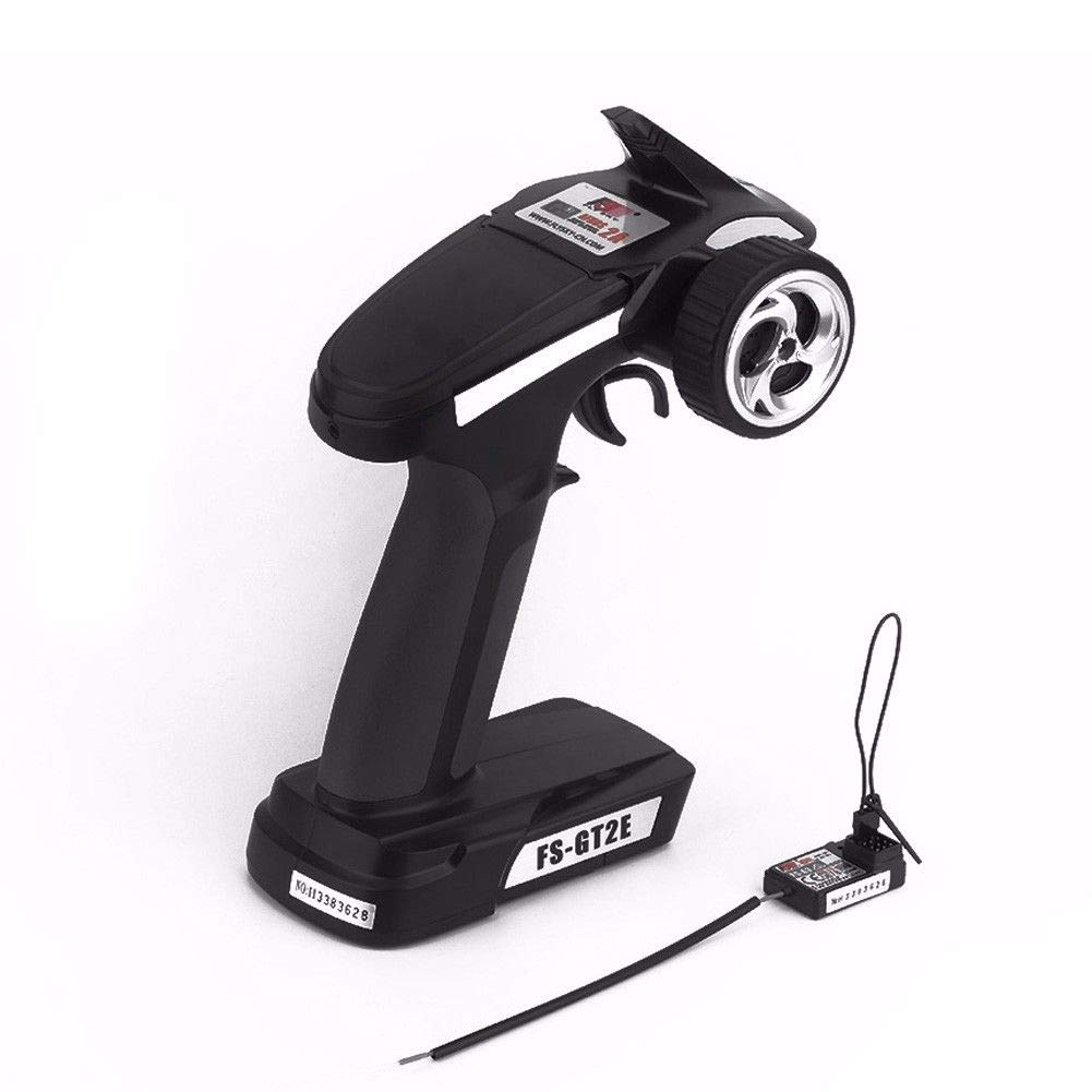 FidgetGear Flysky FS-GT2E 3CH 2.4GHz Radio Control Transmitter LED Receiver For RC Car Boat