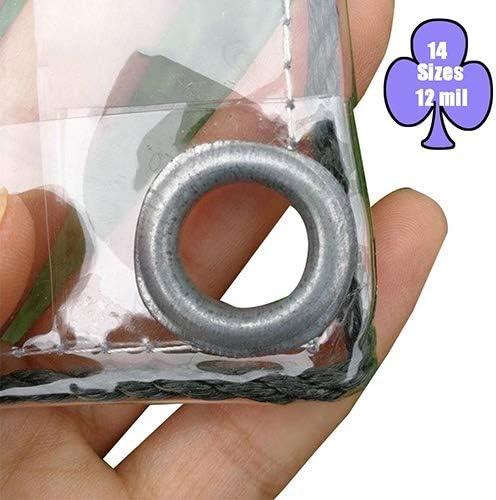 Lonas Impermeables Exterior LJIANW Vaso Transparente Hoja De Lona Impermeable por Invernadero Jardín Toldo De Planta Impermeable Tela De Plástico con Ojales, 22 Tamaños: Amazon.es: Hogar