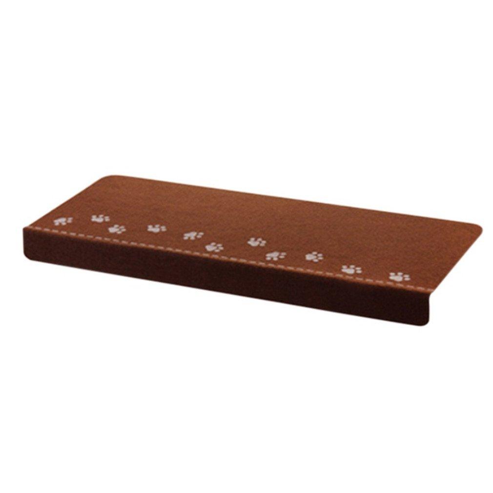 Dark Glowing Stairs Non-Slip Doormat Footprint Pattern Floor Night Light Mat Safety Children Carpet Brown 555x255x40mm