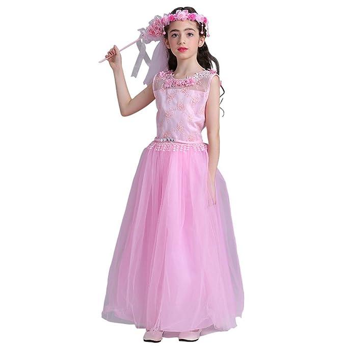 Flor Niña Vestir Princesa Vestidos Fiesta Cumpleaños Bautizo ...