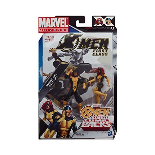 Marvel Universe, Exclusive X-Men First Class Action Figure Comic Pack, Marvel Girl & Cyclops, 3.75 Inches by ()
