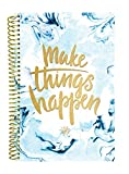 "bloom daily planners UNDATED Calendar Year Day Planner - Passion/Goal Organizer - Monthly/Weekly Agenda Book with Tabs (January to December) - 6"" x 8.25"" - Make Things Happen"