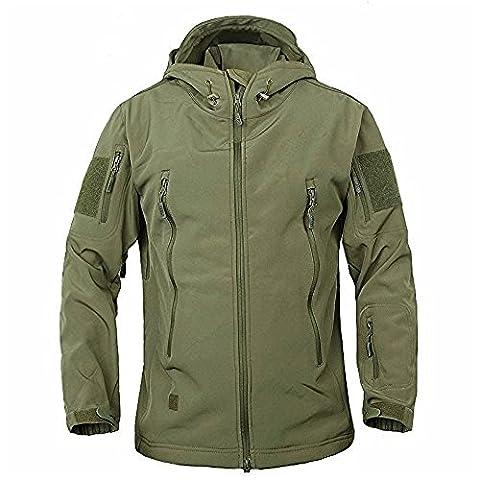 Men's Military Softshell Tactical Jacket Hooded Fleece Coat - Outdoor Gear