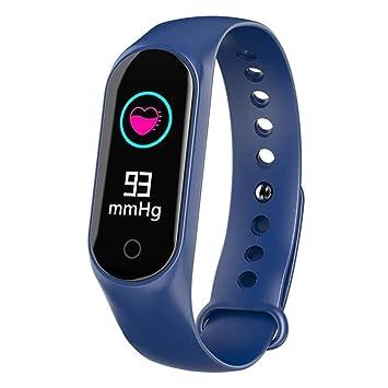 VERYMIN Reloj Inteligente Color Tiempo Bluetooth Smart Watch HR/BP ...