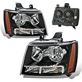 aftermarket headlight assembly - SPPC Black Headlights Assembly Set for Chevrolet Tahoe/Suburban/Avalanche (Pair) High/Low Beam Bulb Included