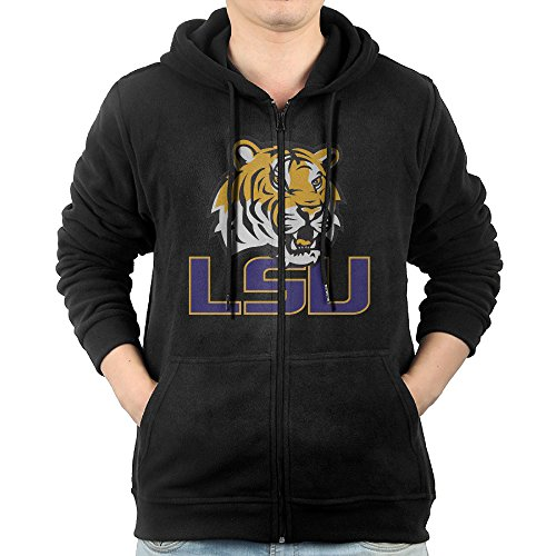 (Fashion Hoodies For Mens LSU Tigers Auburn Tigers Football Sweatshirts Zip-Up)