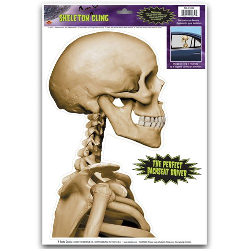 Skeleton Backseat Driver Car Cling Party Accessory (1