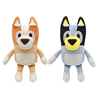 Honeytoy Cartoon Bluey and Bingo Dog Plush Toy 11 Inch (2PCS): Toys & Games