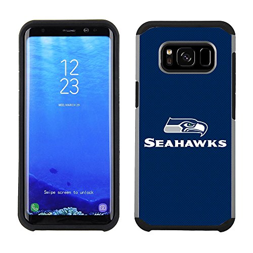 Prime Brands Group Cell Phone Case for Samsung Galaxy S8 Plus - NFL Licensed Seattle Seahawks Textured Solid Color
