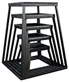 Ader Plyometric Platform Box Set- 12'', 18'', 24'', 30'', 36'' Black