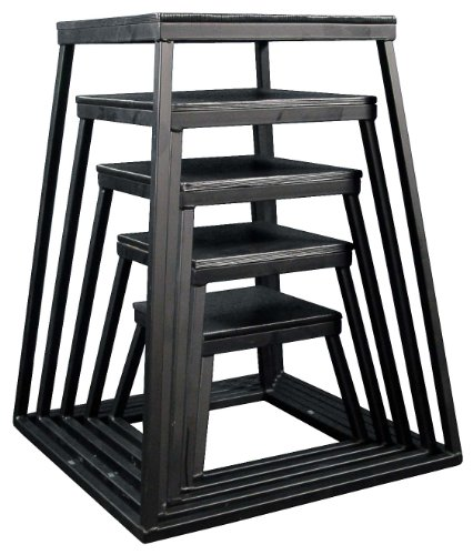 Ader Plyometric Platform Box Set- 12'', 18'', 24'', 30'', 36'' Black by Ader Sporting Goods