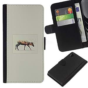 LECELL--Cuero de la tarjeta la carpeta del tirón Smartphone Slots Protección Holder For Sony Xperia Z2 D6502 -- Elegante P0kemon --