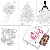 Boieo Beautiful Quilling Supplies Art of Paper Strips Kit and 12 Different Patterns Tools Set for Beginners, 36 Colors 0.5x39cm