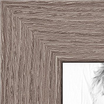 With Acrylic Front and Foam Board Backing 27x23 Brown Barnwood Picture Frame