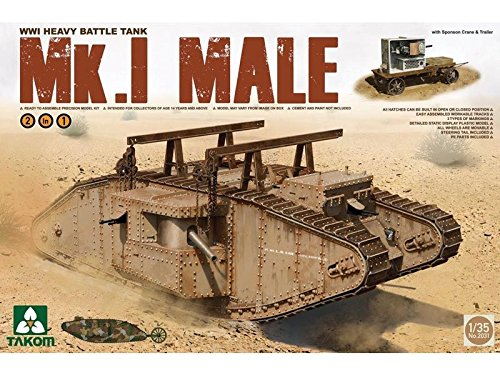 Tamiya Takom 1/35 MK.1 Male WWI Heavy Battle Tank