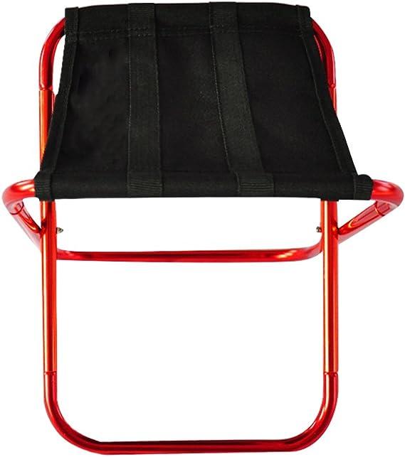 tabouret robuste et l/éger Hjuns Tabouret pliant de camping transportable en alliage d/'aluminium ultra-l/éger avec sac de transport quatre pieds pour randonn/ée p/êche voyage activit/és en plein air