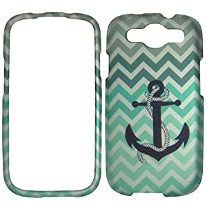 2D Inigo Anchor Chevron For Samsung Galaxy S 3 III i9300 Sprint,Verizon, at&t Case Cover Hard Phone Case Snap-on Cover Rubberized Frosted Matte Surface Hard Shells