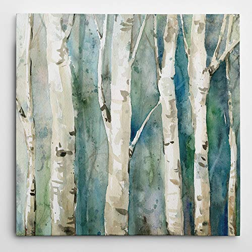 WEXFORD HOME River Birch II' Wrapped Canvas Art Print, 32x32 (Birch Art River Wall)