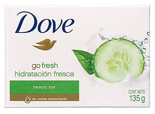 Dove Beauty Bar Soap Go Fresh Cool Moisture, Cucumber and Green Tea Scent, 4.75 Oz/135 Gr (Pack of 12)