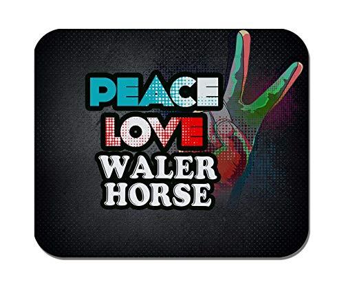 Makoroni - Peace Love WALER Horse - Non-Slip Rubber Mousepad, Gaming Office Mousepad