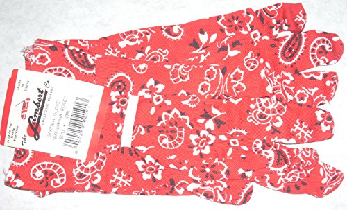- 2 pr Lambert 1991 Red Bandana Rose Garden Glove