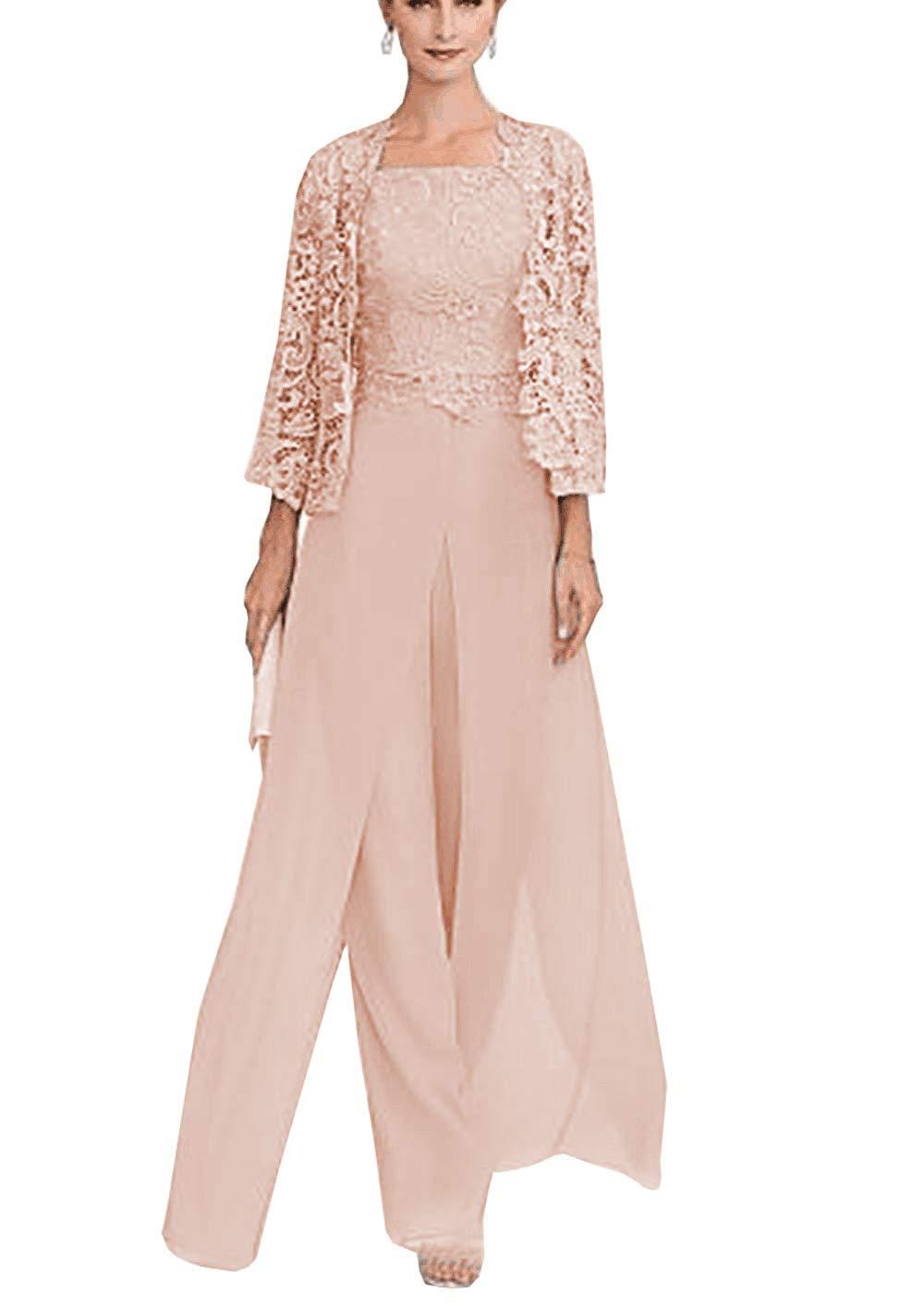 Women's Mother of Bride Groom Dress Pant Suits 3 Pieces ...