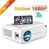 ERISAN S50 Native 1080P Wi-Fi Projector, 5500 Lux WiFi HD Video Projector, Wireless Connect w/iOS, Android, Mac, Windows 10, 300
