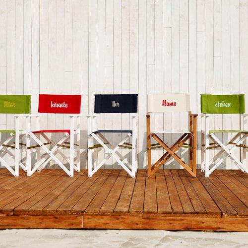 Butlers hollywood silla de director blanca con funda rojo for Silla director ikea