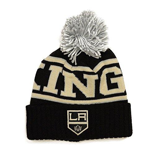 Reebok Men's NHL Cuffed Pom Knit Hat (One Size, Los Angeles Kings) (Los Angeles Kings Reebok)