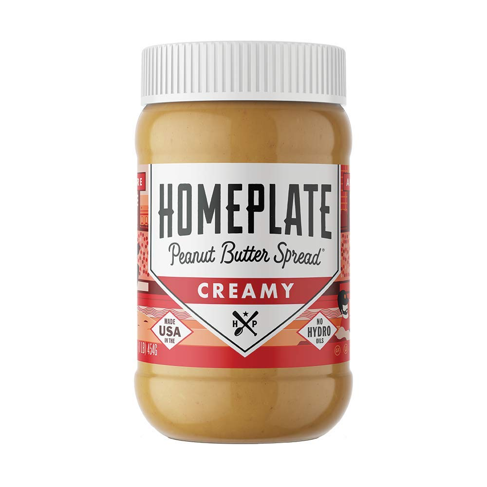 HomePlate Peanut Butter, Creamy, Healthy, Natural, Gluten Free, Non-GMO, 16 oz. Jar by Home Plate PeanutButter