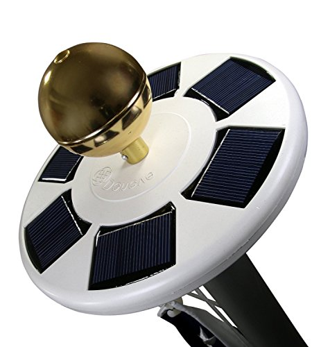 Solar Flag Pole Flagpole Light by Deneve, LED Downlight for Most 15 to 25 Ft Flag Pole for Night Lighting
