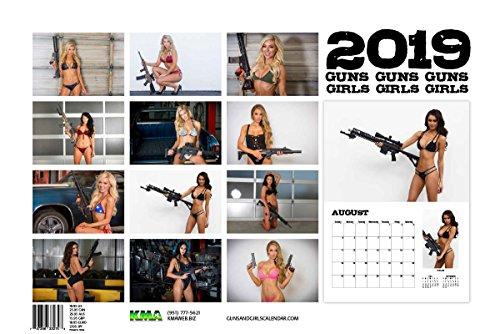 2019 Tactical Guns and Girls Wall Calendar