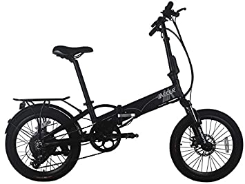 Mecer - Bicicleta plegable eléctrica, batería 36 V con frenos de disco
