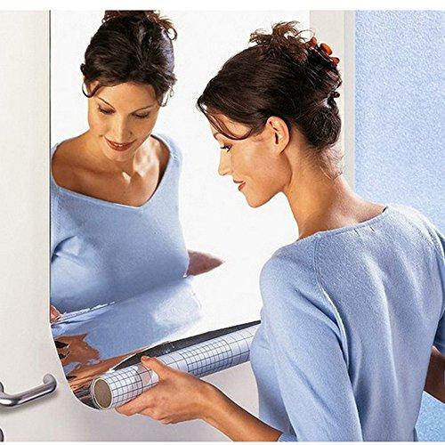 (Kimloog Mirror Wall Sticker Rectangle Self Adhesive Decals Room Decorative (50X50CM))