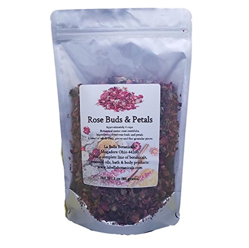 Rose Buds - Dry Rose Petals - 3 oz (86 grams) - Approx. 4 Cups - Soap Ingredients - Candle Making Supplies - Sachets - Potpourri