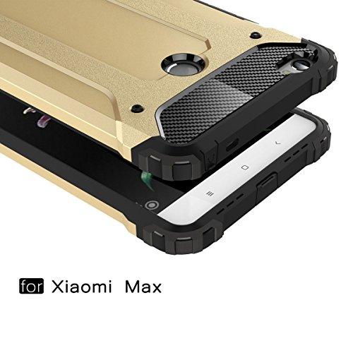 MEIRISHUN Cubierta doble de lujo del metal de la caja protectora para Xiaomi Mi Max - Oro Rosa Blanco