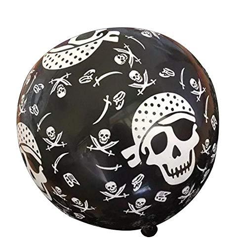 FOONEE 10Pcs Trick Or Treat Scary Bat/Pumpkin/Skull/Spider Printed Pattern Latex Balloons Halloween Party Decorations.