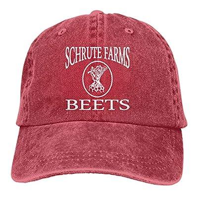 NVJUI JUFOPL Unisex Baseball Cap Schrute Farms Beets Retro Washed Dyed Cotton Adjustable Denim Cap