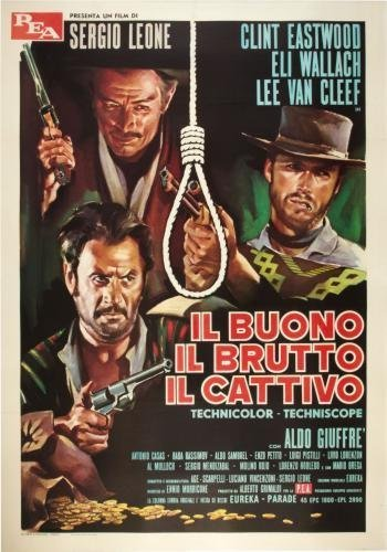 Good The Bad The Ugly Movie Poster #01 Italian 24