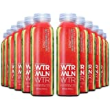 WTRMLN WTR Cold Pressed Watermelon Juice Deliciously Hydrating 100% Fresh Fruit Juice, Pulp-Free, Natural Electrolyte Sports Drink With No Added Sugar or Water, 12 Pack, 12 Ounce Bottles
