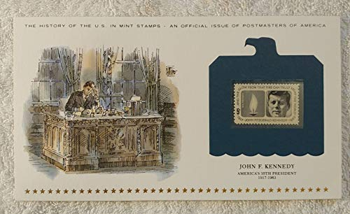 John F. Kennedy - America's 35th President - Postage Stamp (1964) & Art Panel - History of the United States: an official issue of Postmasters of America - Limited Edition, 1979 - JFK