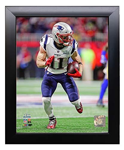 Framed New England Patriots Julian Edelman, Super Bowl LIII MVP During 8x10 Photo Picture. (run.)