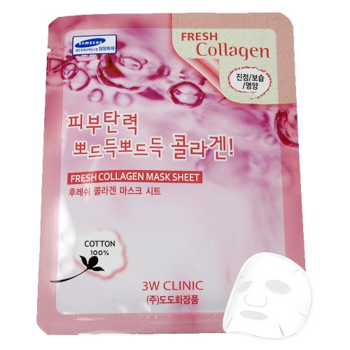 "3W Clinic Fresh ""Collagen"" Mask Pack Essence Face Mask Sheet"