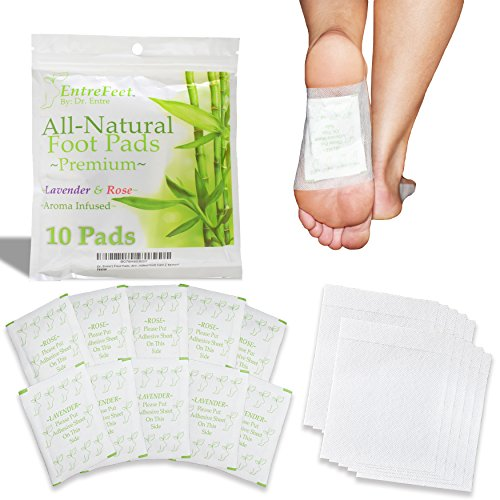 Dr. Entres Foot Pads: Mother Nature's Best For Pain Relief, Deep Sleep Aid, Odor Eliminator, & More | Full Body Cleanse Patch | Easy & Effective Plant Based Foot Care | Convenient Packaging |10 Pac