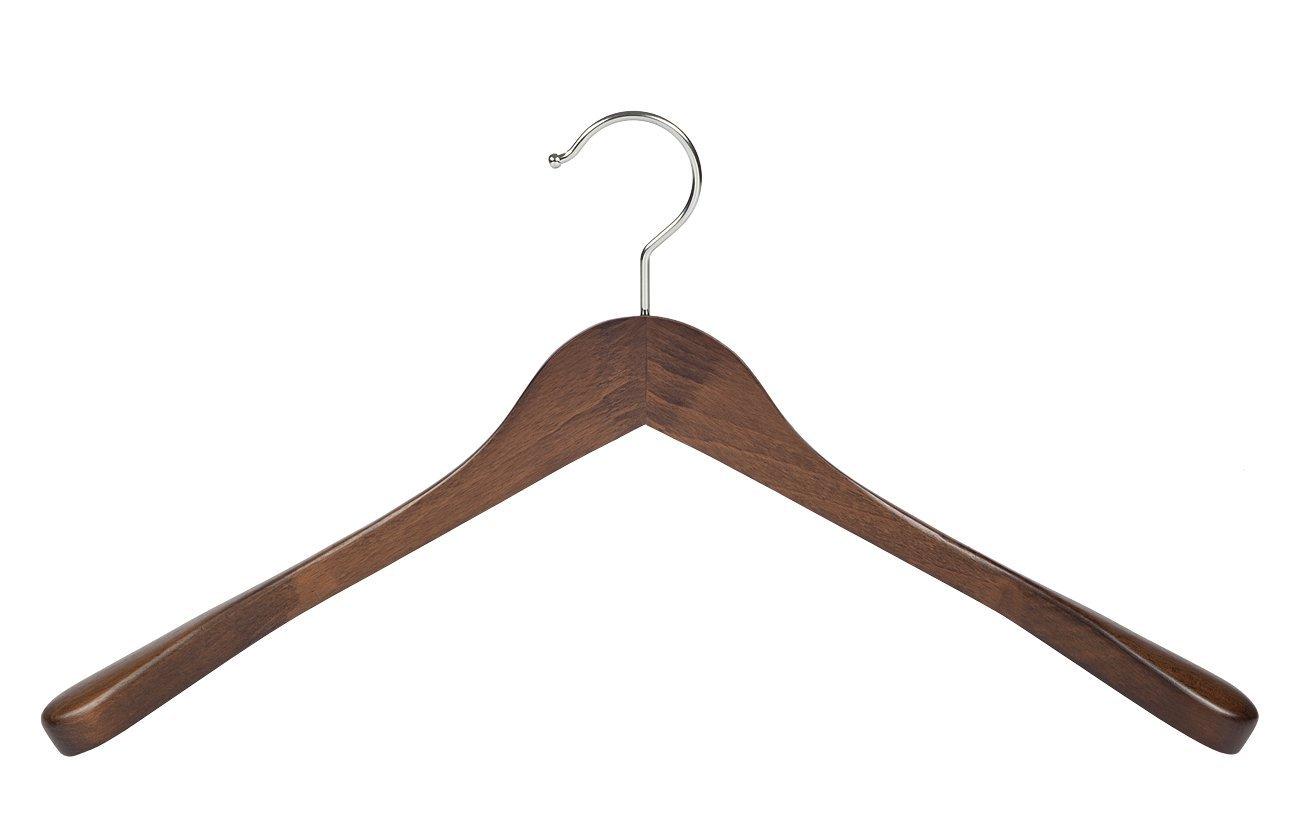 42 cm Der Kleiderb/ügelriese 4 x Jacken//Kost/ümb/ügel nussbaum gebeizt