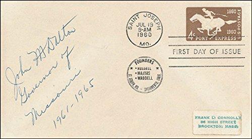 Amazon.com: Governor John M. Dalton - First Day Cover Signed ...