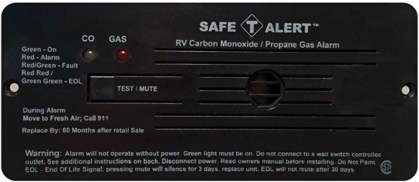 Amazon Com Safe T Alert By Mti Industries 35 742 Bl Dual Lp Co Alarm 12v 35 Series Flush Mount Black Automotive